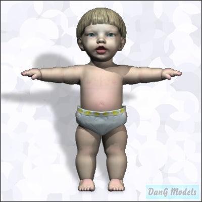 child head eye 3d lwo