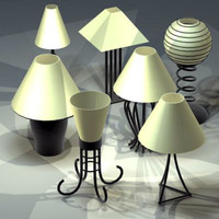 3d model table lamps
