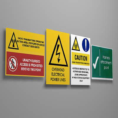sign warning safety 3d max
