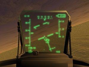 fighter aircraft hud 3d model