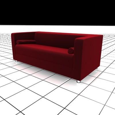3d sofa scandinavian model