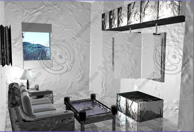 3dsmax room house furniture
