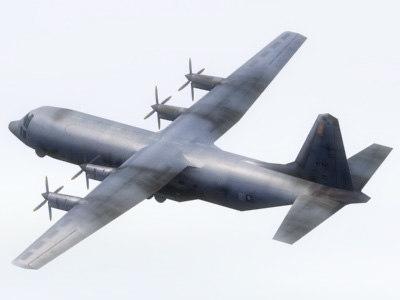 spectre gunship airplane aircraft 3d model