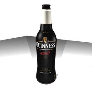 3d guinness stout bottle model
