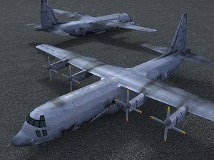 spectre gunship airplane aircraft 3d model