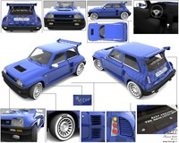 renault 5 turbo brazil car 3d model