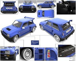 renault 5 turbo brazil car 3d model