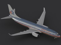 3ds b 737-800 american airlines