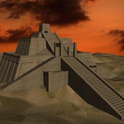 ancient structure zigurat 3d model