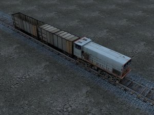 locomotive rails 3d model