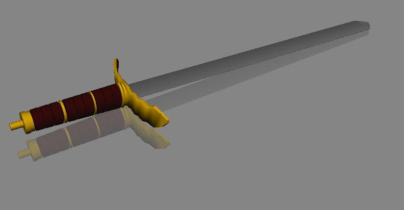 3d model broad sword