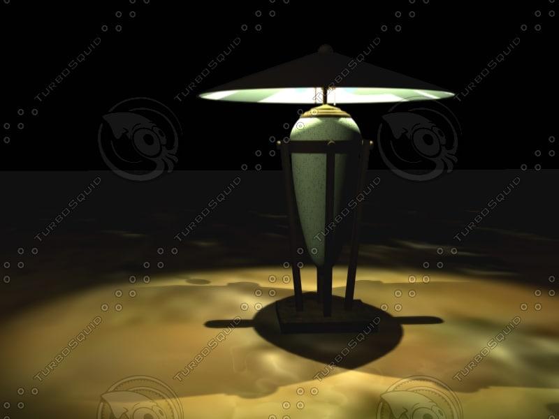 deco lamp lights 3d model