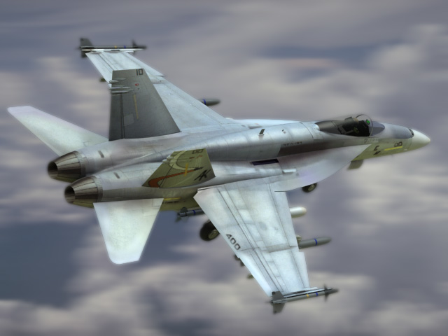 navy fa18e fighter 3d model