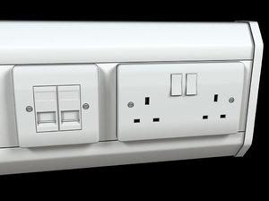 dado power trunking socket 3d model