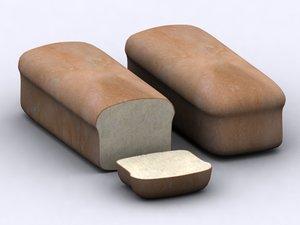 3d model bread loaf