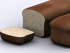 3d 3ds bread loaf