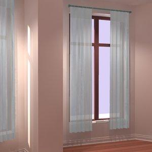 window curtain 3d model