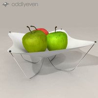 fabric bowl apples 3ds