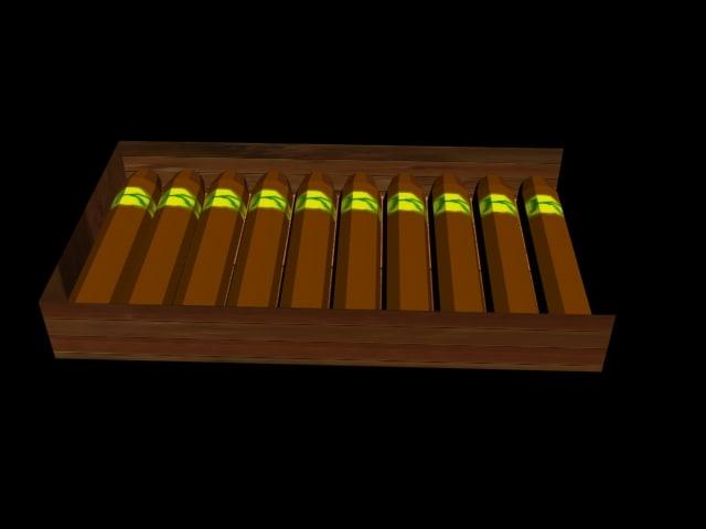 free cigars 3d model