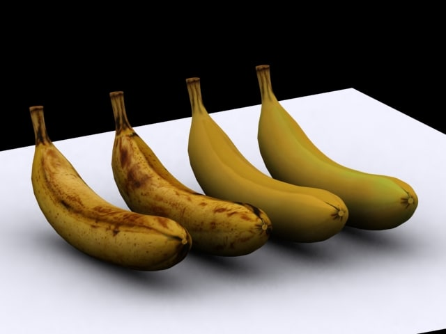 bananas 3d max