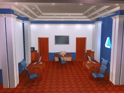 3d office interior