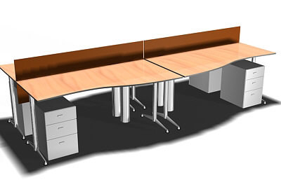 office desk 3d lwo