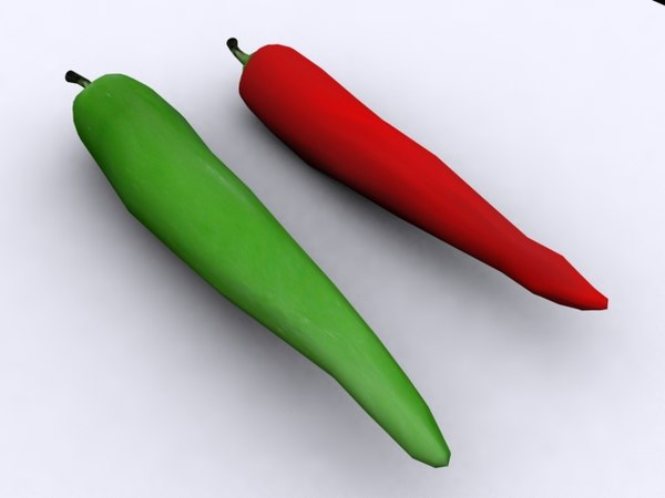 3d model chile peppers