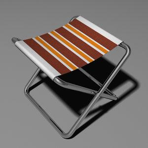 camping seat 3d model
