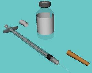 3d model vial syringe