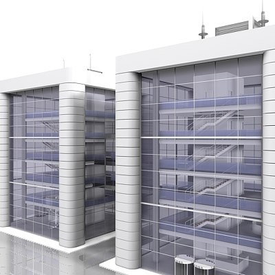 3ds max office building