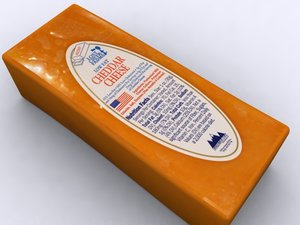 3d model cheddar cheese