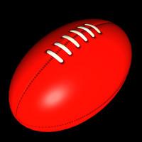 afl football 3d model