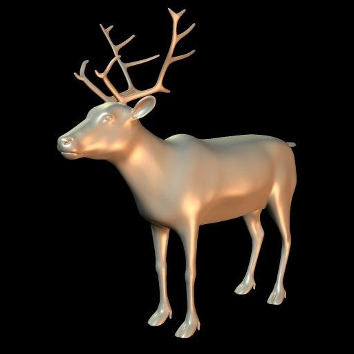 reindeer obj