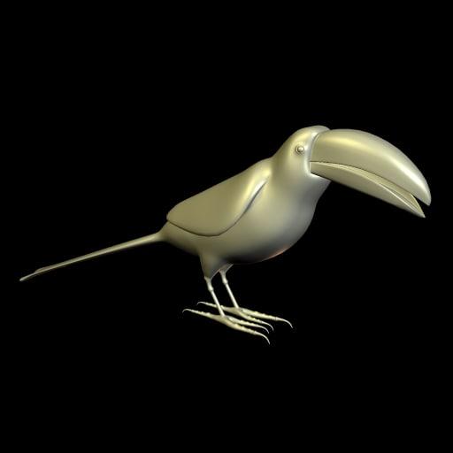 toucan birds 3d model