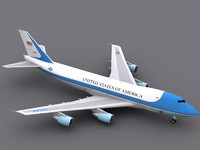 Boeing 747-200 Air Force One (c4d)