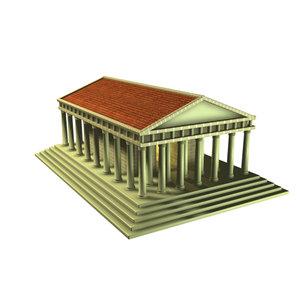 3d typical roman temple