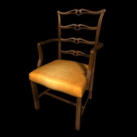 3d ribbon chair model