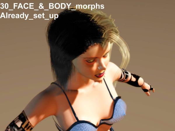 female anatomy girl 3d lwo
