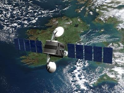 orbital communication sattelite 3d model