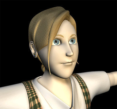 3d model character cathy