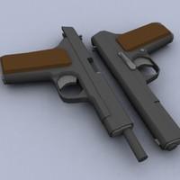 takarev tt33 pistol 3d model