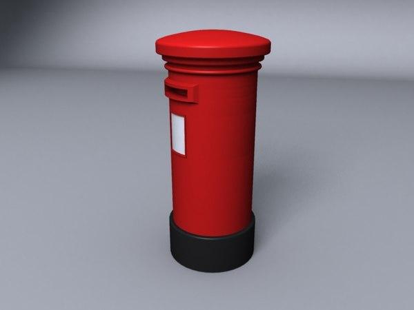 3d post box model