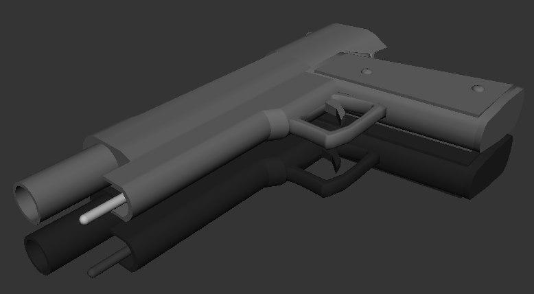 gun weapon handgun 3d model