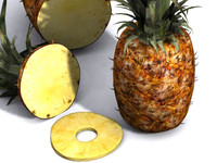 3ds max pineapple fruit