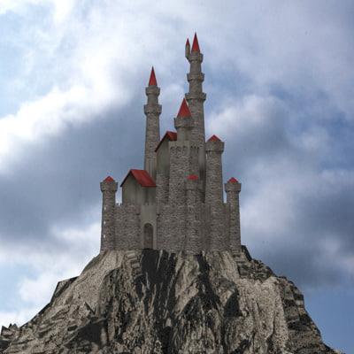 imagination medieval architecture 3d model