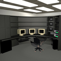 3d standard office furniture model