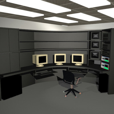 3d standard office furniture model