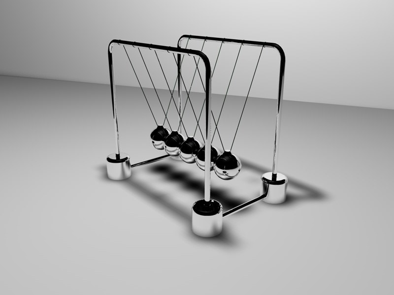 3d model newton s cradle