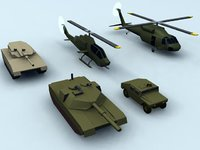 3d model of vehicles uh60 blackhawk