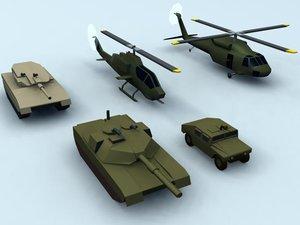 3d model of vehicles uh60 blackhawk